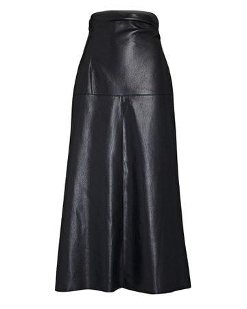 Nanushka Melody Vegan Leather Midi Skirt   INTERMIX®