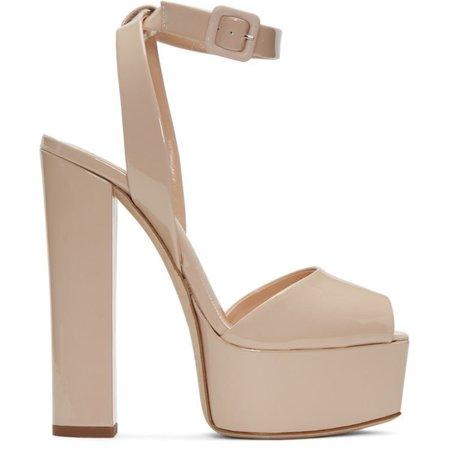 nude giuseppe zanotti platform shoe