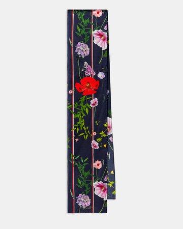 Hedgerow skinny scarf - Dark Blue   Accessories   Ted Baker
