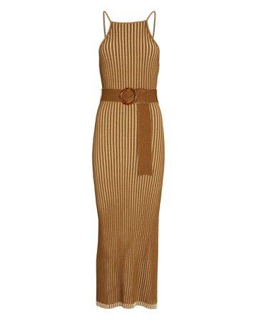 Nicholas Lily Belted Knit Midi Dress   INTERMIX®