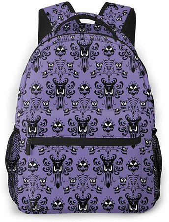 Haunted Mansion Laptop Backpack Casual Large Teen Girls Women Kids School Bags Fashion Cute Bookbag School Student Computer Backpacks Travel Hiking Camping Daypack