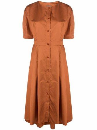 12 STOREEZ button-down Flared Dress - Farfetch
