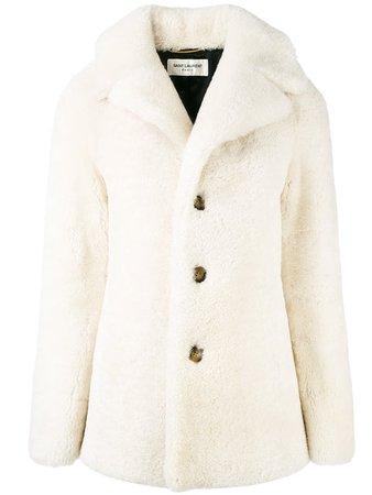 SAINT LAURENT shearling pea coat
