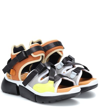 Mesh sandals