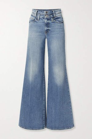 Le Palazzo High-rise Wide-leg Jeans - Mid denim