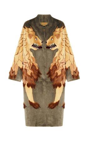 Lion Print Mink Fur Coat by Alena Akhmadullina   Moda Operandi