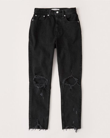 Women's High Rise Ankle Mom Jeans | Women's Clearance | Abercrombie.com