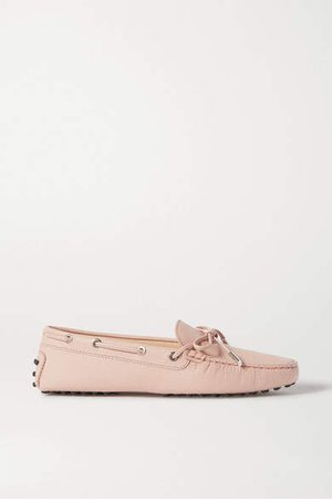 City Gommino Lizard-effect Leather Loafers - Pastel pink