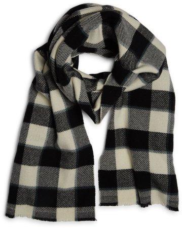 Cassiar Check Logo Wool Scarf