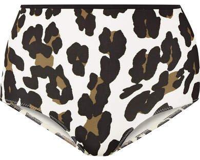 The Brigitte Leopard-print Bikini Briefs - Leopard print