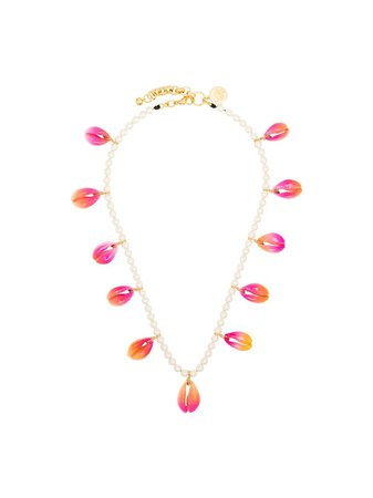 Venessa Arizaga gold-plated Summer Shells Pearl Necklace - Farfetch