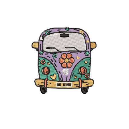Be Kind Hippie Retro Flower Power Van 3.5 | Etsy