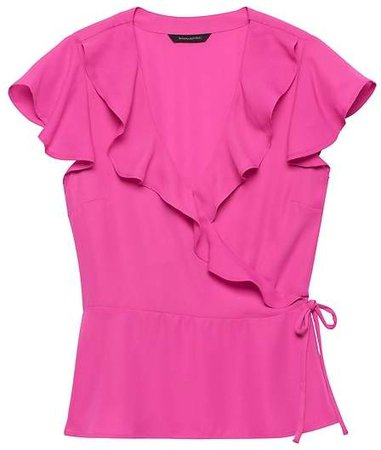 Solid Ruffle-Wrap Top