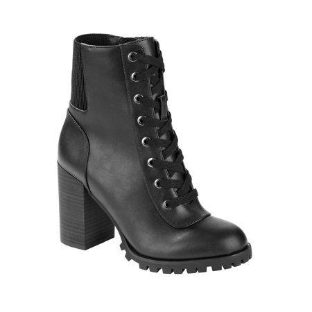 Scoop - Scoop Jasper Lug Sole Bootie Women's - Walmart.com black