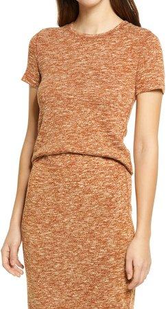 Marled Slub Knit T-Shirt