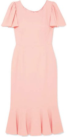 Ruffled Cady Midi Dress - Pink