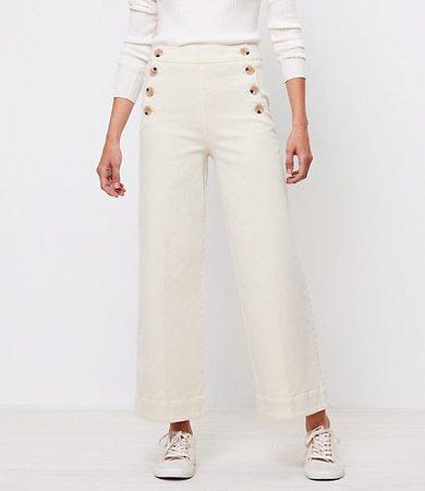 Petite Wide Leg Sailor Jeans in Wishbone Wash