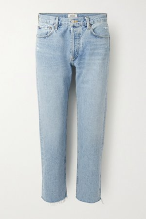Light denim Parker cropped high-rise straight-leg jeans | AGOLDE | NET-A-PORTER