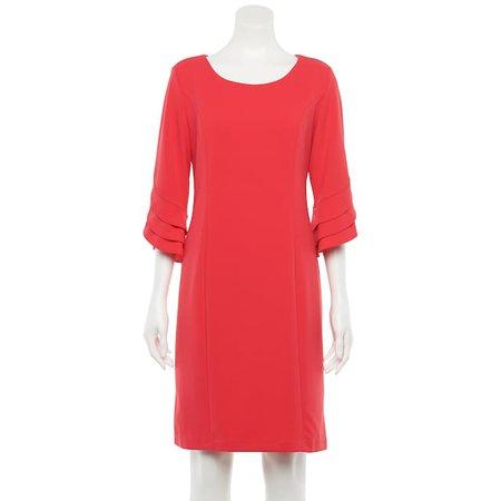 Women's Nina Leonard Tiered Sleeve Sheath Dress