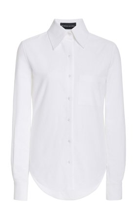 Classic Cotton Button-Down Shirt by Brandon Maxwell