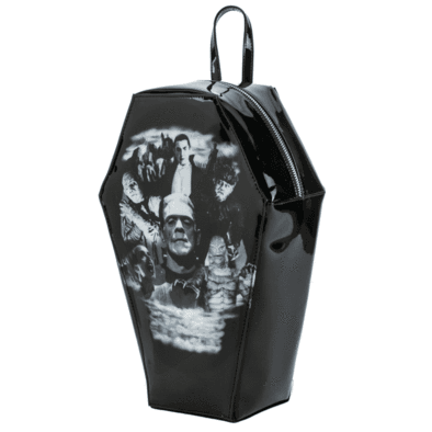 "Rock Rebel ""Monster Collage"" Coffin Backpack – Vampirefreaks Store"