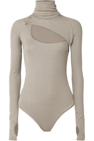 Alix | Carder cutout ribbed stretch-modal jersey turtleneck bodysuit | NET-A-PORTER.COM