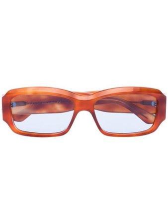 Brown Gucci Eyewear rectangular-frame tortoiseshell-effect sunglasses GG0669S - Farfetch