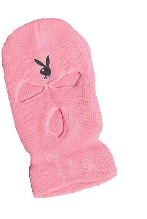 Pink Playboy Bunny Ski Mask