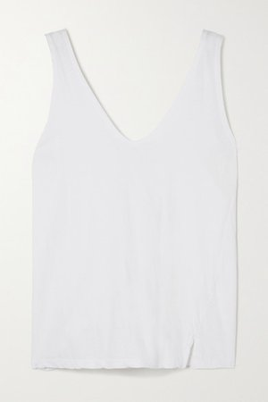 Organic Cotton-jersey Tank - White