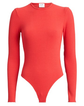 RE/DONE | 60's Ribbed Jersey Bodysuit | INTERMIX®