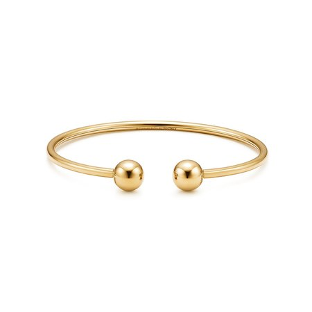 Shop Tiffany HardWear 18K Gold Medium Ball Wire Bracelet | Tiffany & Co.