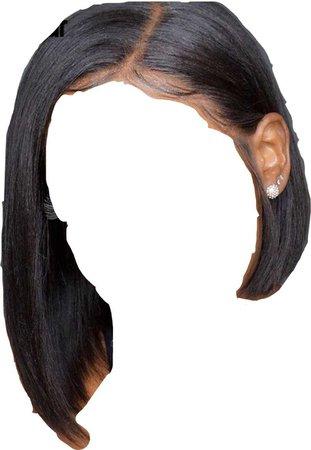 lace front wig bob side part