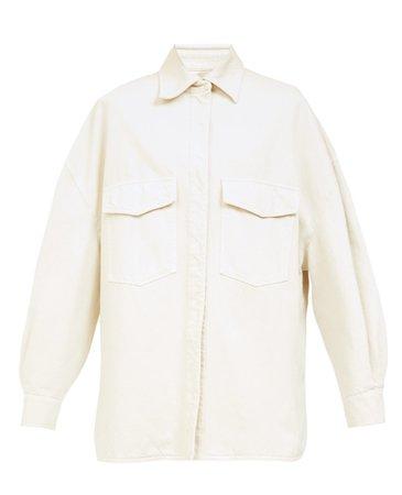 The Attico Lotta Oversized Denim Shirt