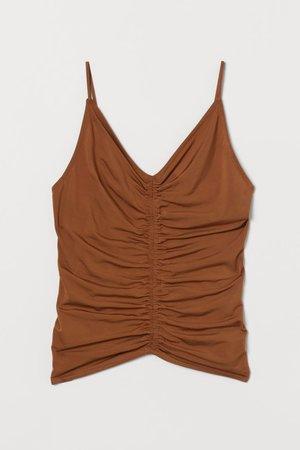 Draped Camisole Top - Brown - Ladies | H&M US