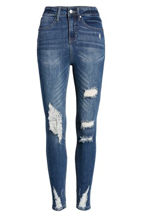BP. Ripped High Waist Skinny Jeans | Nordstrom