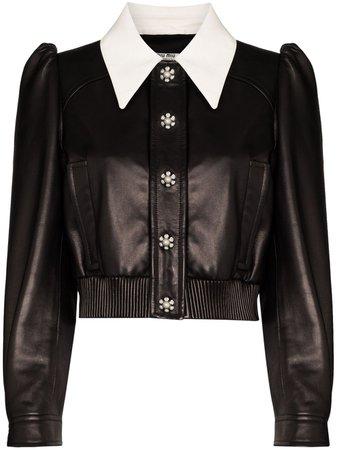 Miu Miu Cropped crystal-embellished Jacket - Farfetch