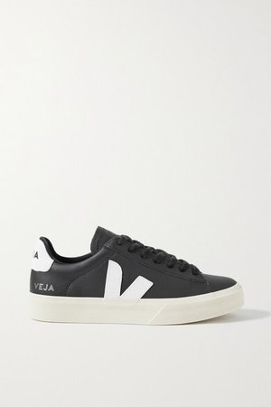 Campo Leather Sneakers - Black