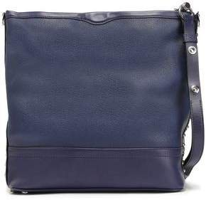 Studded Smooth And Textured-leather Shoulder Bag