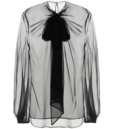 Blusa In Chiffon Di Seta | Valentino - Mytheresa