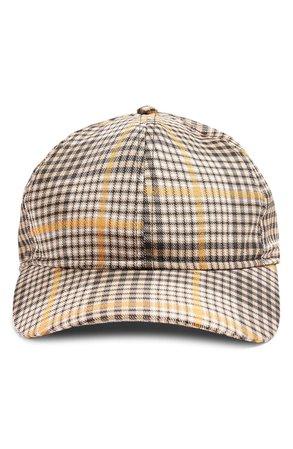 Topshop Check Baseball Cap | Nordstrom