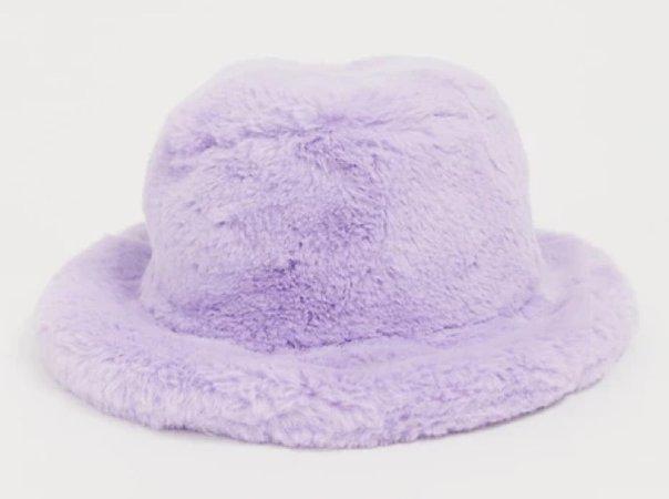 Purple Fur Bucket Hat