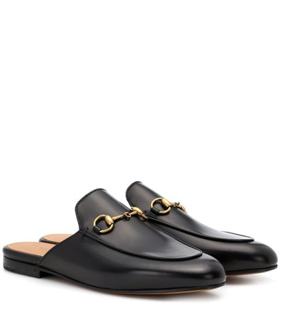 Princetown Leather Slippers - Gucci | mytheresa.com