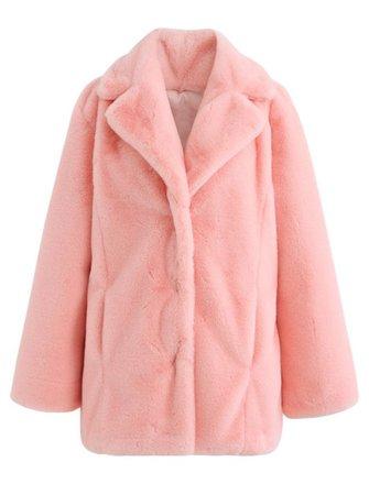 Chicwish Pink Marshmallow Faux Fur Coat
