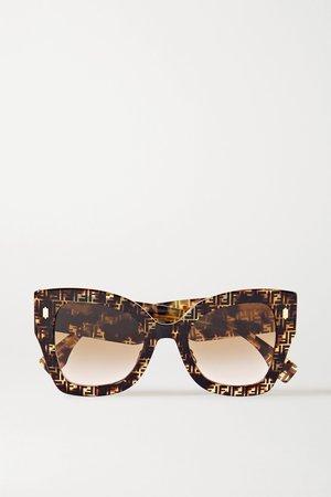 Tortoiseshell Oversized square-frame tortoiseshell acetate sunglasses | Fendi | NET-A-PORTER