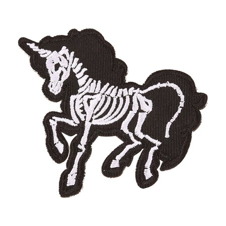 DIY Embroidered Skeleton Skull Unicorn Patch Sew On Iron On Craft Day of the Dead Goth Occult Patch Badge Applique-in Patches from Home & Garden on Aliexpress.com | Alibaba Group