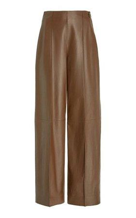 Pintucked Leather Pants By Vince | Moda Operandi