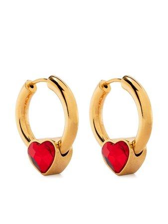 BALENCIAGA Force Heart Hoop Earrings - Farfetch