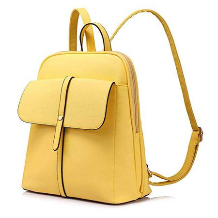 Amazon.com: Backpack Purse for Girls School Travel Bag Bucket Shape Large Capacity Yellow: Clothing