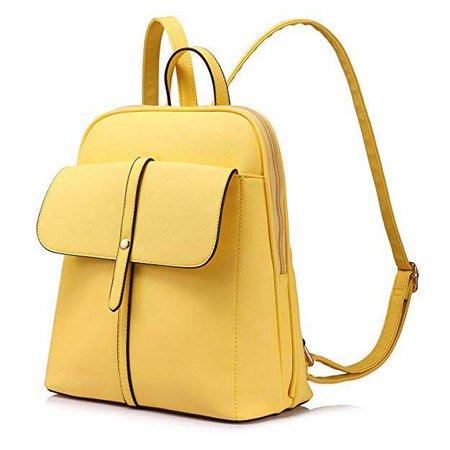 Amazon.com: Backpack Purse for Girls School Travel Bag Bucket Shape Large Capacity Yellow: Clothing