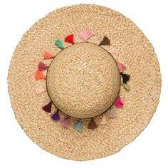 Pool To Party Rainbow Tassel Floppy Hat